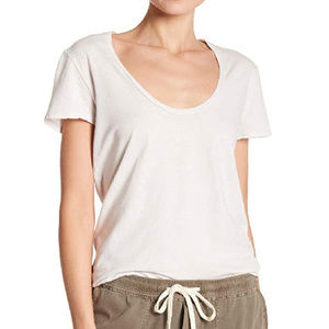 James Perse Relaxed Gray Casual Tee Imprinted Back